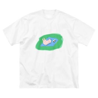 おにぎりは早めに食べよう Big silhouette T-shirts