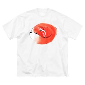 ねむりきつね Big silhouette T-shirts