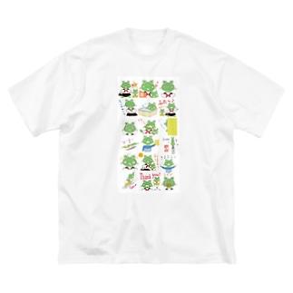 買えるのカエル Big silhouette T-shirts