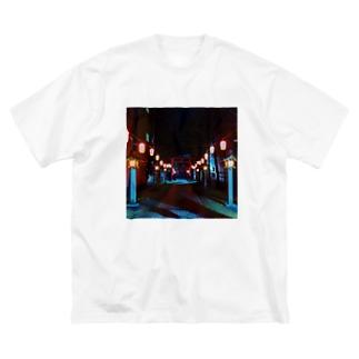 花園神社hanazonoshrine Big silhouette T-shirts