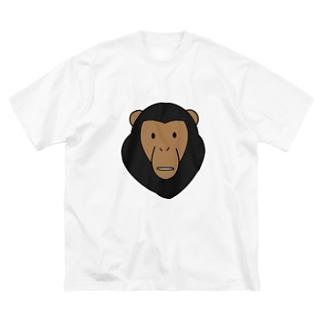 チンパンジー Big silhouette T-shirts