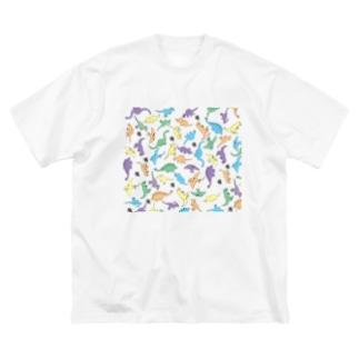 きょうりゅういっぱい Big silhouette T-shirts