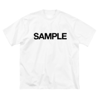SAMPLE Big silhouette T-shirts