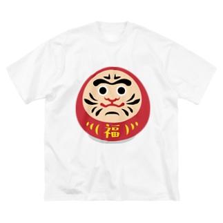 だるまん Big silhouette T-shirts