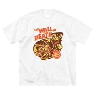 the Wall of Death : Brown / Orange  Big silhouette T-shirts