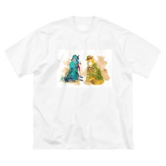 WOLF Holmes & Watson Big silhouette T-shirts