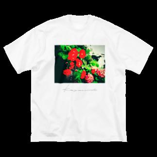 Kazumichi Otsubo's Souvenir departmentのRed roses Big silhouette T-shirts