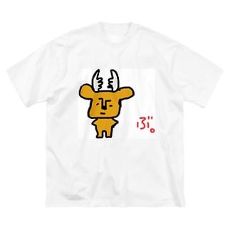 拗らせ鹿BUSHIKA(第1話) Big silhouette T-shirts