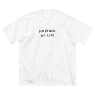 No Reach, No Life. Big silhouette T-shirts