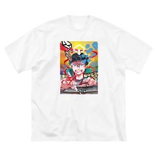 にくまん子の【妬み嫉み愛憎諸々.zip】 Big silhouette T-shirts