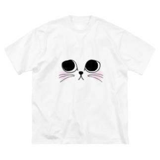 neko.(ホワイト) Big silhouette T-shirts