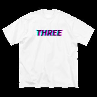 THREE TEA GO. 三茶散歩のTHREE TEA GO. COLLAR Big silhouette T-shirts