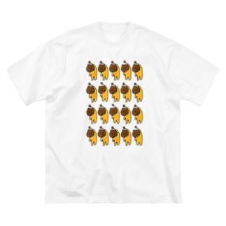 くりぼーいいっぱい Big silhouette T-shirts