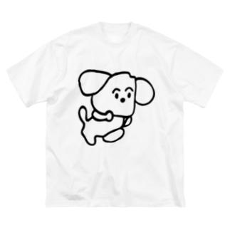 旅する犬 Big silhouette T-shirts