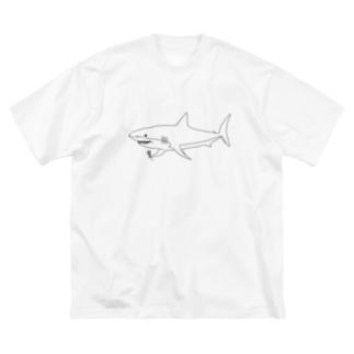 優しいサメ Big Silhouette T-Shirt