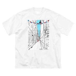 Anriのパリの路地裏 Big silhouette T-shirts