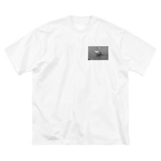 青姦(モノver) Big silhouette T-shirts