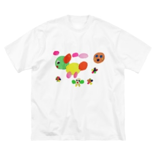 Free rougeのエンカラな世界 Big silhouette T-shirts