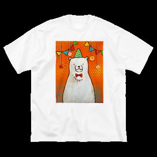 佐山周市のしろくまパーティ Big silhouette T-shirts