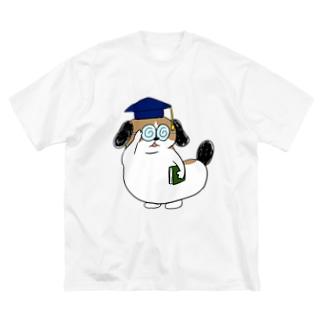 もじゃまる博士 Big silhouette T-shirts