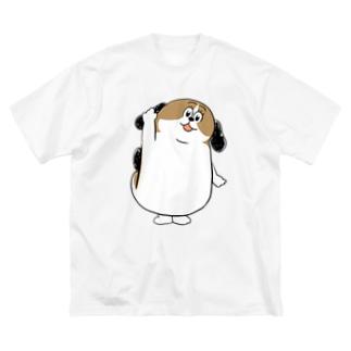もじゃまるはーい! Big silhouette T-shirts