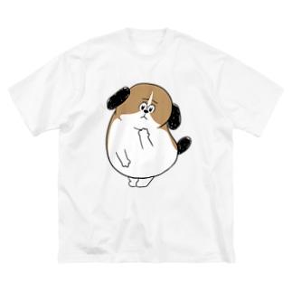 もじゃまる心配 Big silhouette T-shirts