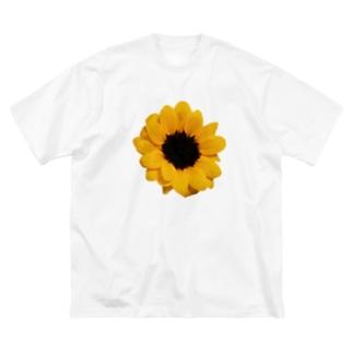 ひまわり Big silhouette T-shirts