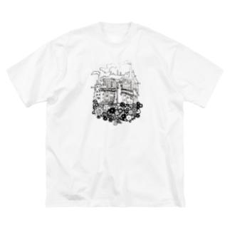 工場都市 Big silhouette T-shirts