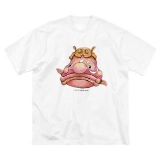 ニュウドウカジカ Big silhouette T-shirts