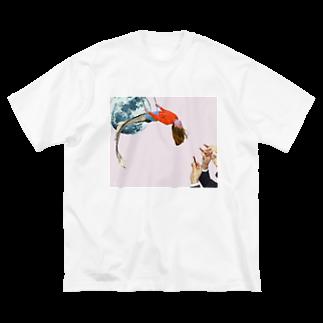 PUNKMEINCHAのCherry Big silhouette T-shirts