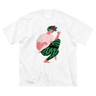 エアギターボーイ Big silhouette T-shirts