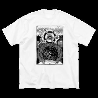 イトスク の耳栓 Big silhouette T-shirts