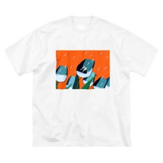 こういう夢 Big silhouette T-shirts