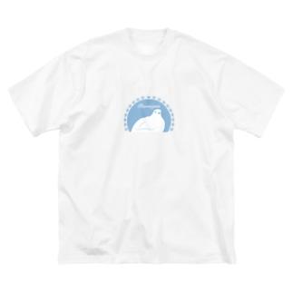 ライチョウ Big silhouette T-shirts
