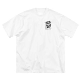 銀色のやつTシャツ Big silhouette T-shirts