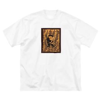 山羊と少年 Big silhouette T-shirts