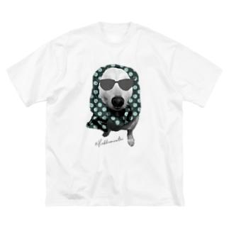 ほっかむり犬 Big silhouette T-shirts