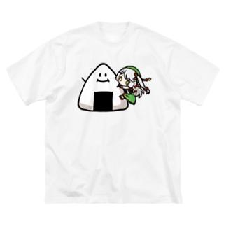 御掬この子のSHOWROOMこの子_抱っこアバター Big silhouette T-shirts