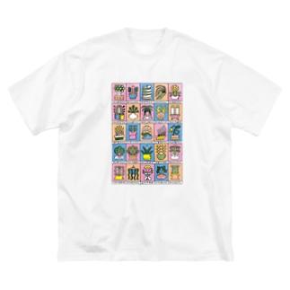鉢植えの植物たち 緩色 Big silhouette T-shirts