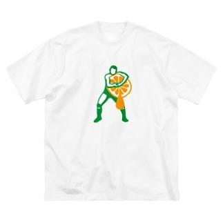 ヘッドロックみかん搾り Big silhouette T-shirts