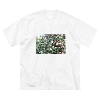 雰囲気のあるお花フォト Big silhouette T-shirts