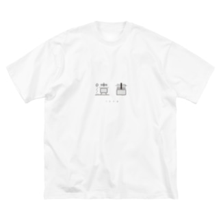遺書 Big silhouette T-shirts