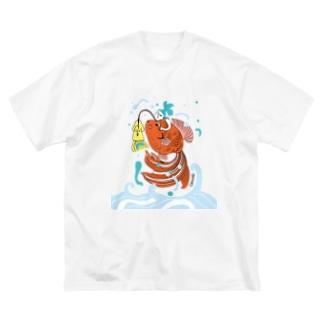 跳ね金魚 Big silhouette T-shirts