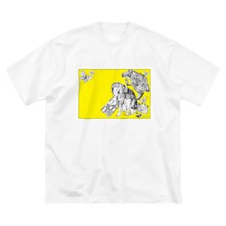 Retro Design Letter Big silhouette T-shirts