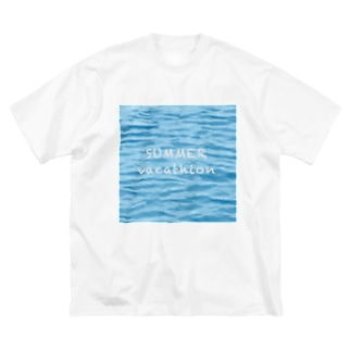 SUMMER vacathion Big silhouette T-shirts