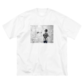 super me Big silhouette T-shirts