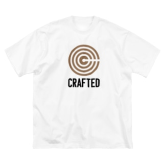 CRAFTED 黒ロゴ Big silhouette T-shirts