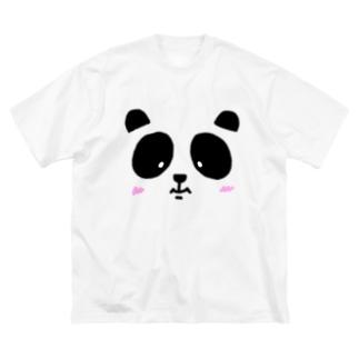 フェイスtheパンダ Big silhouette T-shirts