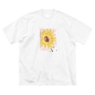 ひまわりsummer Big silhouette T-shirts