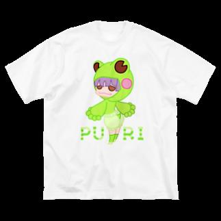 ウサネコのぷり☆カエルちゃん Big silhouette T-shirts